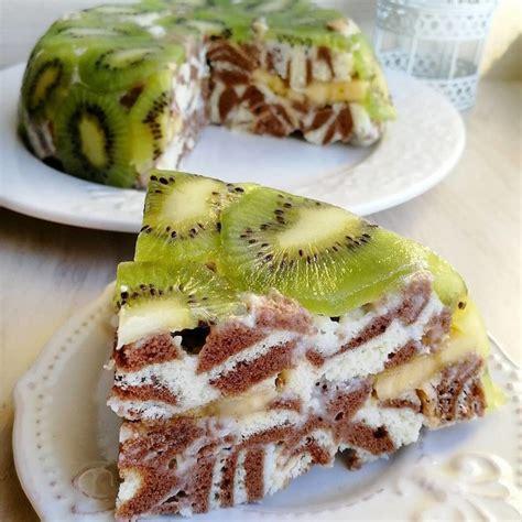 Torte Zebra ar kivī un banānu - INSTA receptes - tavs ...