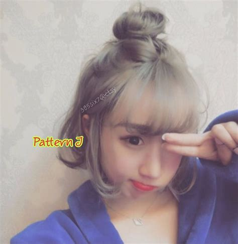 sweetie korean top knot style full wig party
