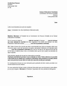 Pret A La Caf : exemple gratuit de lettre contestation refus attribution une allocation ou une aide par caf ~ Gottalentnigeria.com Avis de Voitures