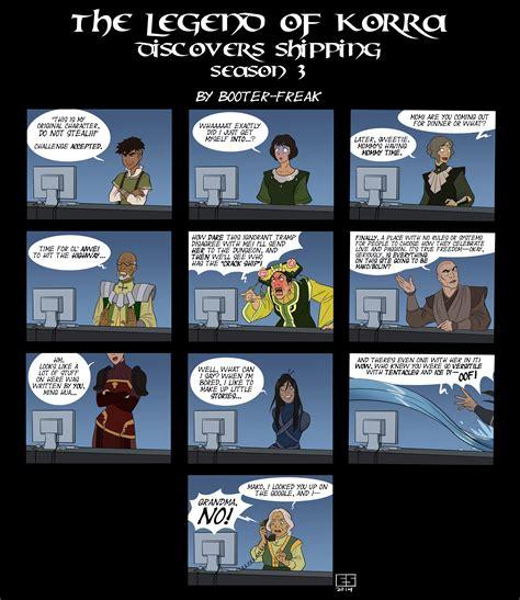 Legend Of Korra Memes - lok discovers shipping season 3 avatar the last airbender the legend of korra know your meme