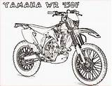 Coloring Motorcycle Pages Yamaha Printable Bike Drawing Motocross Dirt Wr450f Colouring Motorcycles Motorbikes Dirtbike Motor Van Getdrawings Adults Filminspector Boys sketch template