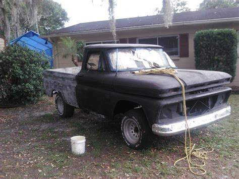 66 Chevy Truck W350 Holley 750 Double Bumper Florida