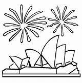 Opera Coloring Australia Sydney Harbour Bridge Celebration Drawing Colouring Sidney During Cartoon Getcolorings Emu Printable Kidsplaycolor Getdrawings Fireworks Popular sketch template