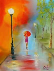 Red Umbrella Painting
