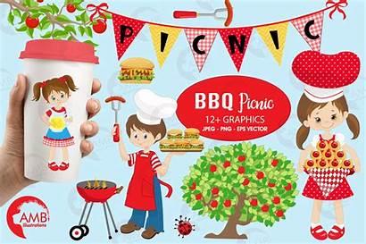 Bbq Clipart Clip Barbecue Party Picnic Grill