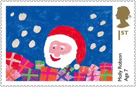 royal mail announces winning christmas  stamp designs