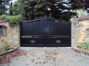 Portail Coulissant Bricoman : portail coulissant en fer forg portail coulissant 4m ~ Dallasstarsshop.com Idées de Décoration