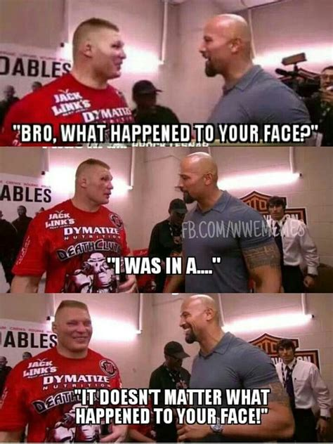 Give A Fuck Meme - the rock doesn t give a fuck about brock wwe pinterest