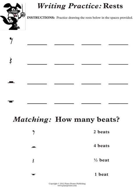 Easy Music Worksheets For Kindergarten  Free Printable Music Worksheets Opus 1000 Images About