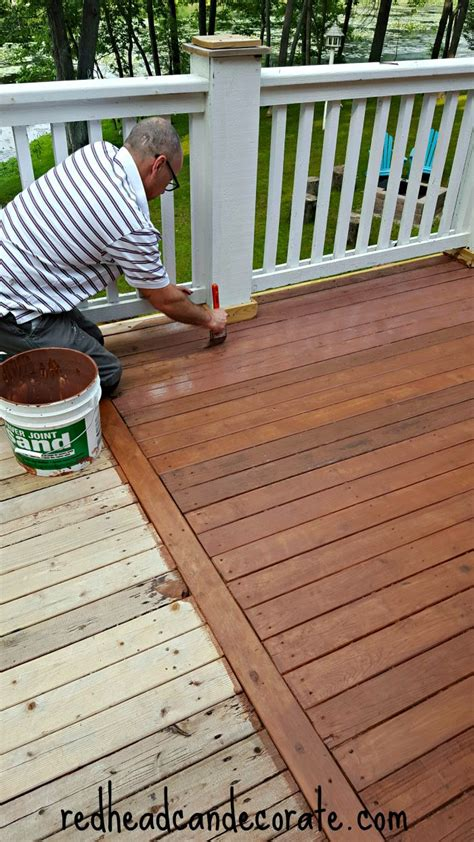 thompsons waterseal deck makeover redhead  decorate