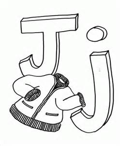 Letter J for Jacket Coloring Page