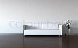 Couch Von Milben Befreien : minimalismus wei e couch und vase durch die wand stock foto colourbox ~ Indierocktalk.com Haus und Dekorationen