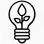 Icon Led Lighting Eco Power Idea Icons