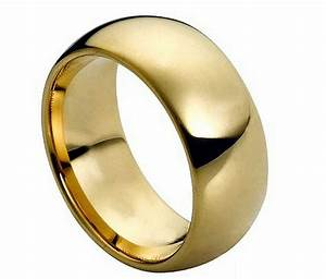 tungsten carbide 18k gold dome wedding engagement band With 18k wedding ring