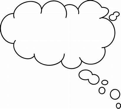 Bubble Thought Cartoon Cliparts Clipart Thoughts Vector