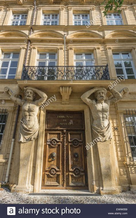 chambre du commerce aix en provence dorway with caryatids tribunal de commerce atlas