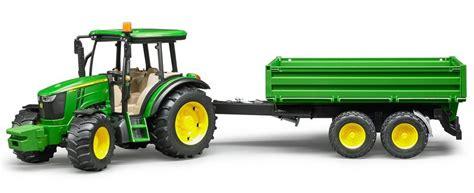 traktor mit anhänger bruder 174 traktor mit anh 228 nger 187 deere 5115m mit