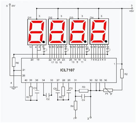digital volmeter with ilc7107 larsen nerd lab pinterest circuit diagram arduino and