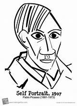 Picasso Coloring Self Portrait Pablo Autorretrato Printable Colorir Desenho Arte Desenhos Imagens Obras Freebies Cubismo Ginny Weasley Coloriage Retrato Imagem sketch template