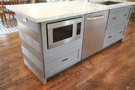 kitchen island spacing design dump how to a built in microwave