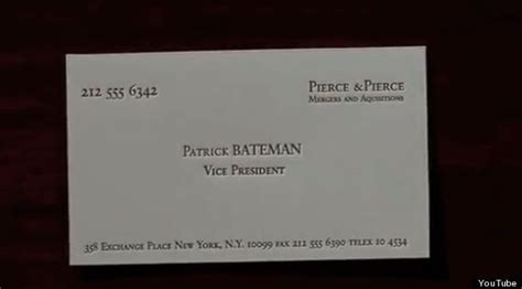 The 'american Psycho' Typo That Somehow No One Noticed Business Card Printing Pune Cards Instant Print London Optimal Plan Sample Simple Paper Queensway Shopping Centre El Paso Tx Calgary