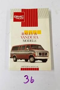 1991 Gmc Rally Vandura Van Owners Manual User Guide