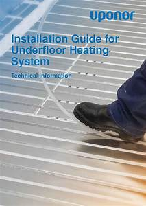 Underfloor Heating Install Guide By Uponor Uk
