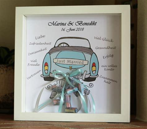 married personalisiertes geld geschenk zur hochzeit