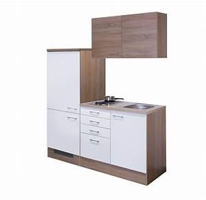 Küchenzeile 160 Cm : singlek che rom breite 160 cm wei k che singlek chen ~ Markanthonyermac.com Haus und Dekorationen
