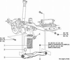 Mazda 3 Service Manual - Rear Lower Arm Removal  Installation
