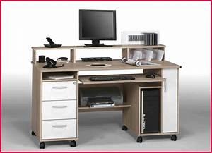 Meuble Bureau Ordinateur : armoire informatique conforama beautiful meuble ordinateur ~ Nature-et-papiers.com Idées de Décoration