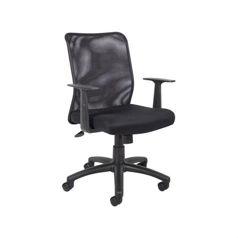 mesh task office chair with t arms b6106