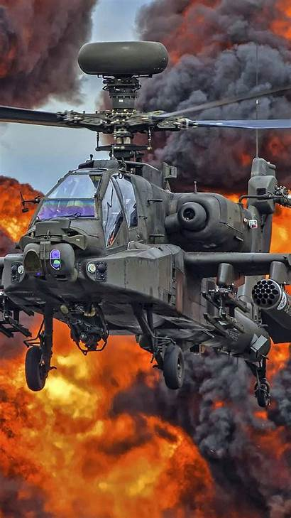 Military Apache Helicopter 4k Ah Ultra Mobile