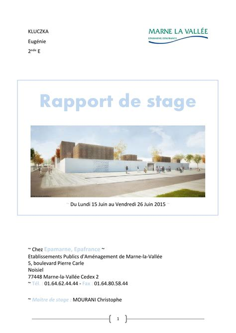 stage de cuisine gratuit rapport de stage epa by laure kluczka issuu