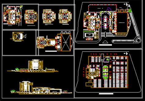 convention center  dwg design block  autocad