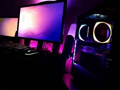 Purple Gaming Setup Pc Battlestation Reddit Gamer