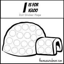 Letter I Igloo Coloring Pages Printable