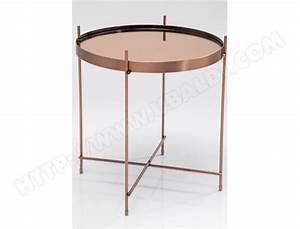 Bout De Canapé Pas Cher : table d 39 appoint kare design bout de canap round cuivre ~ Melissatoandfro.com Idées de Décoration