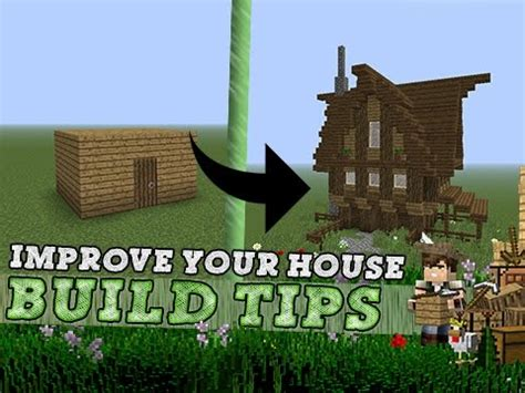 tips to building a house minecraft improve your house build tips youtube