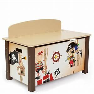 Coffre Jouet Enfant : coffre jouets en bois meuble chambre enfant motif pirate 66x50x39cm ape06001 d coshop26 ~ Teatrodelosmanantiales.com Idées de Décoration