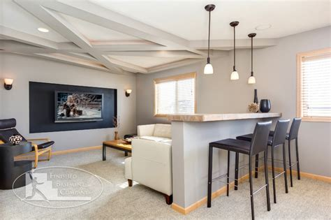 Decorating Above Kitchen Cabinet Space by Basement Home Theater Modern Basement Minneapolis