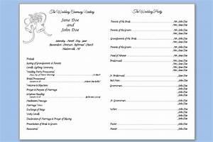 folded wedding bells template wedding programs templates With traditional wedding program templates