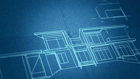 architecture house plan background blueprint animation