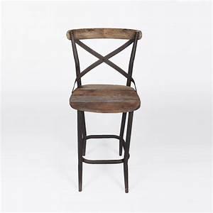 Chaise Haute De Cuisine : chaise haute de bar bistro industrielle ~ Nature-et-papiers.com Idées de Décoration