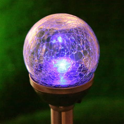 buy wholesale solar crackle glass lights from