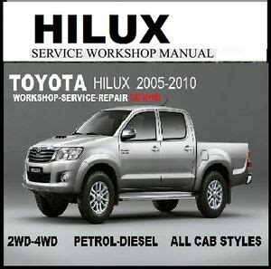 download car manuals pdf free 1992 toyota xtra parental controls toyota hilux 2005 2010 workmate sr sr5 2wd 4wd master workshop manual cd ebay