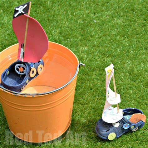 How To Make A Cool Looking Paper Boat by Upcycled Crocs Boat Craft Ted S