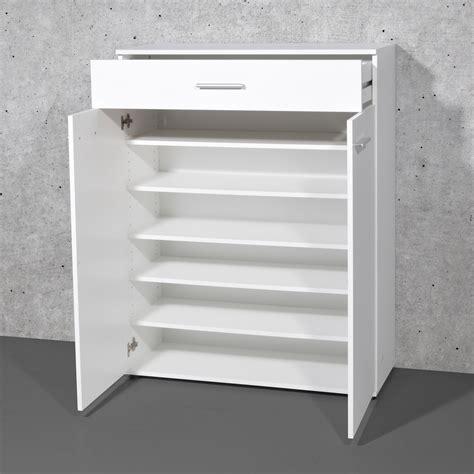 meuble cuisine avec tiroir meuble à chaussures 24 paires avec tiroir en bois easy blanc