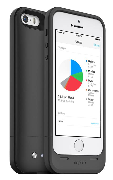 iphone 5s storage add storage and power to your iphone 5 5s with the