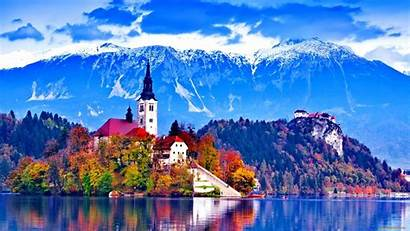 Europe Bled Wallpapers Slovenia Lake Nature Background